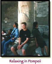 Relaxing in Pompeii